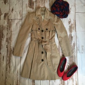 H & M Trench coat light beige color with belt 4